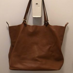 Michael Kors large tote in luggage